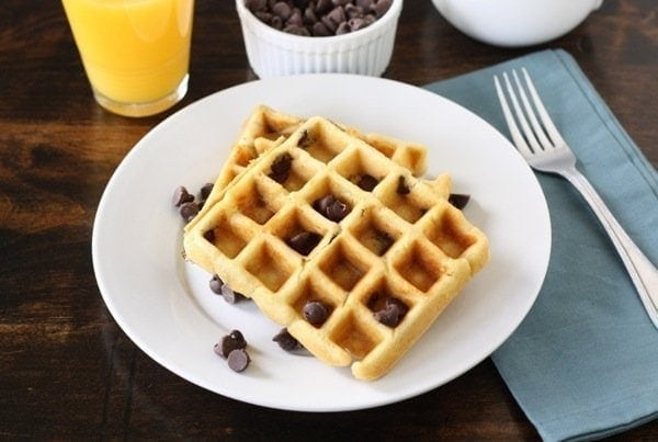 Chocolate Chip Waffles | Two Peas & Their Pod