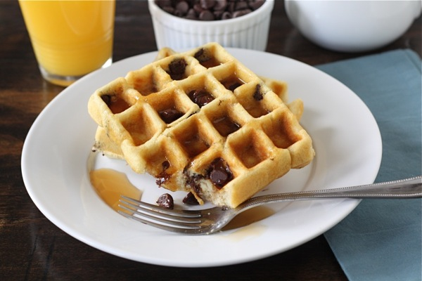 For step-by-step photos and the Chocolate Chip Waffle recipe, visit ...