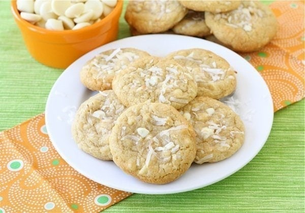 Coconut White Chocolate Chunk Cookies