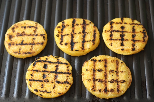 Grilled Polenta Cakes | Two Peas & Their Pod