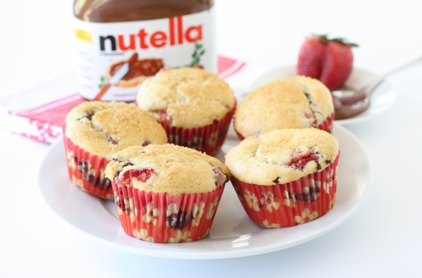 Strawberry Nutella Muffins | Nutella Muffin Recipe | Two Peas & Their ...