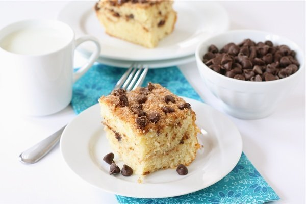 Chocolate Chip Coffee Cake Recipe | Two Peas & Their Pod