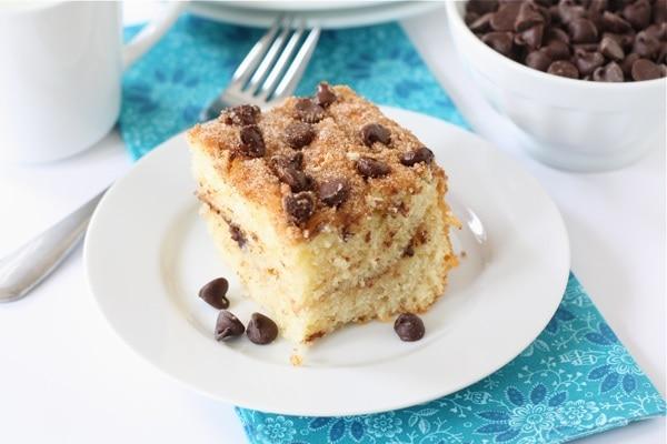 Chocolate Chip Coffee Cake Recipe   Two Peas & Their Pod