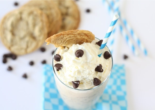 Chocolate Chip Cookie Milkshake | Two Peas & Their Pod