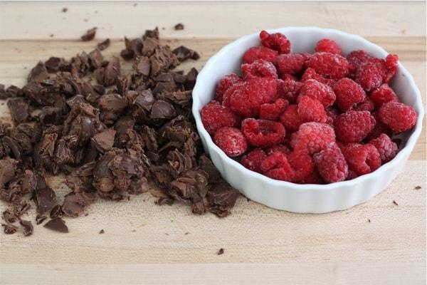 Raspberry-truffle-brownies