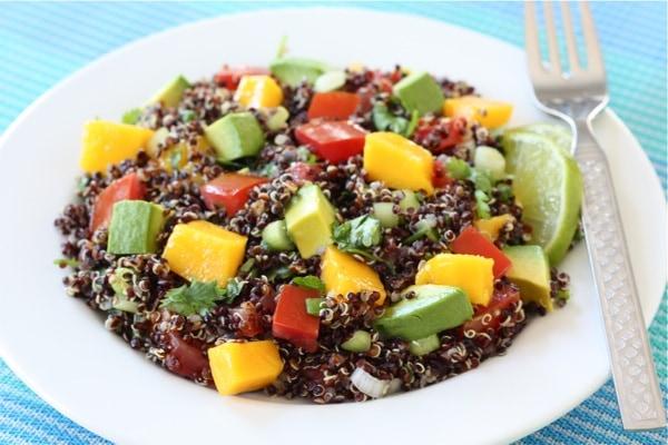 Quinoa Salad Recipe | Quinoa Salad with Mango, Avocado, & Tomatoes ...