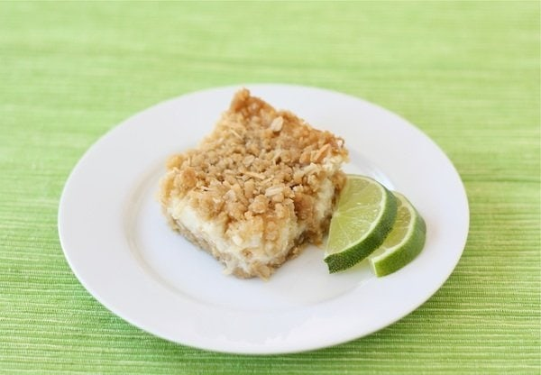Lime and Coconut Crumble Bars | Lime Bar Recipe | Two Peas & Their Pod