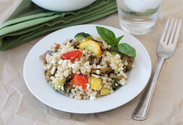 Israeli Couscous Salad with Roasted Vegetables Recipe | Two Peas ...
