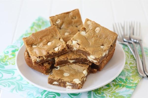 Biscoff White Chocolate Chip Blondies | Biscoff Spread Recipe | Two ...