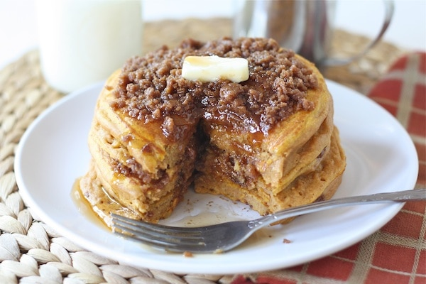 ... Cinnamon Streusel Pancakes. There is no better way to start the day