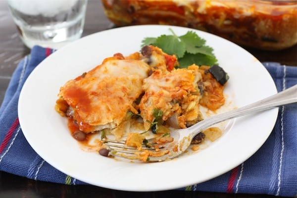 Stacked Enchiladas | Roasted Vegetable Enchilada Recipe ...