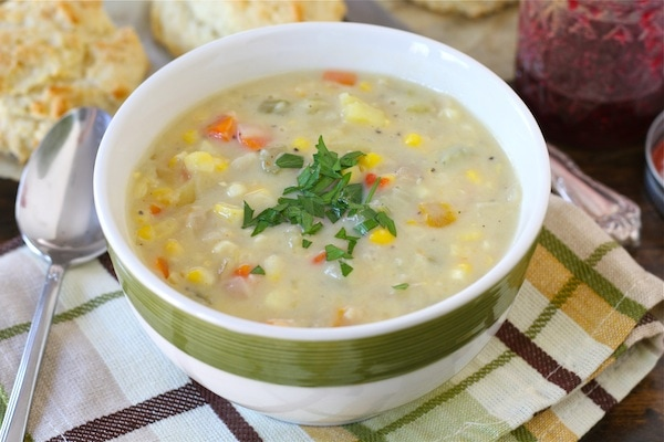 Corn Chowder Recipe | Vegetarian Corn Chowder | Two Peas & Their Pod