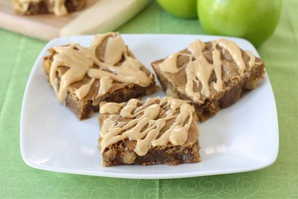 Peanut Butter Apple Bars   Peanut Butter Bar Recipe   Two Peas & Their ...