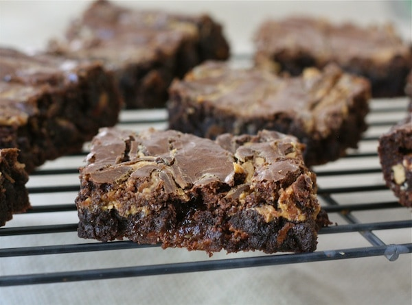 Peanut Butter Snickers Brownies Recipe | Two Peas & Their Pod