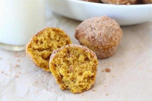Baked Pumpkin Donut Holes | Pumpkin Donut Recipe | Two Peas & Their ...