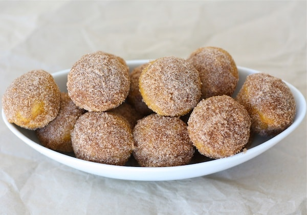 Baked Pumpkin Donut Holes | Pumpkin Donut Recipe | Two Peas & Their ...