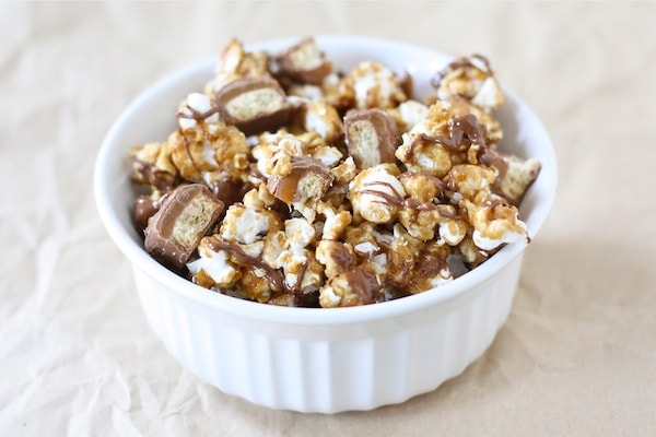 Twix Caramel Popcorn Recipe | Caramel Popcorn Recipe | Two Peas ...