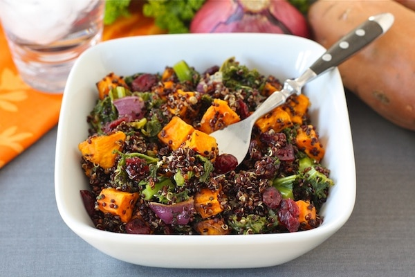 Quinoa Salad with Sweet Potatoes, Kale, & Dried ...