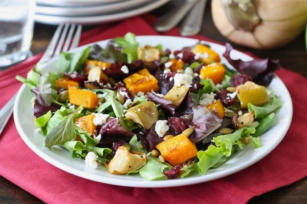 Apple, Parmesan, And Mixed Green Salad With Mustard Vinaigrette Recipe ...
