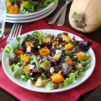 Pepper Crostini Maple Roasted Butternut Squash & Apple Salad Zucchini ...