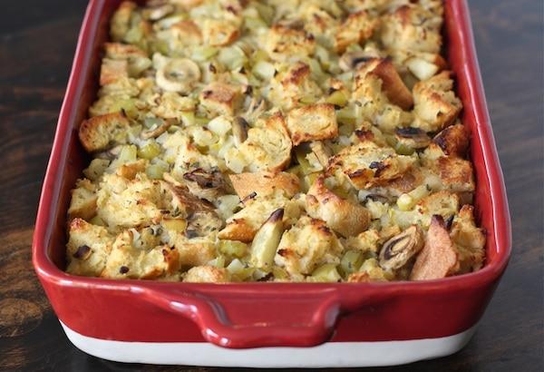 Sourdough Stuffing Recipe | Vegetarian Stuffing Recipe | Two Peas ...