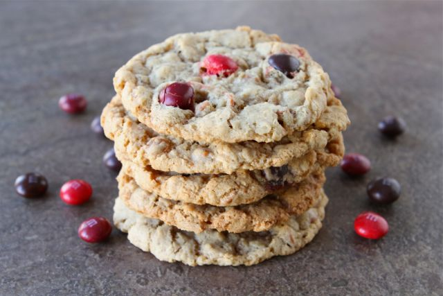 Cinnamon M&M Oatmeal Cookies Recipe — Dishmaps