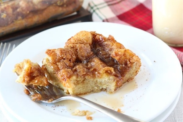 Baked Eggnog French Toast Recipe | French Toast Casserole | Two Peas ...
