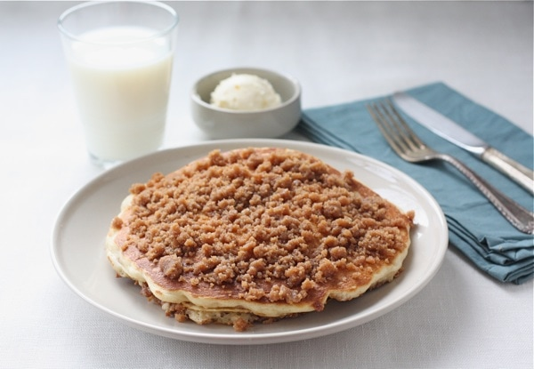 Cinnamon Streusel Pancakes -Josh loves these pancakes! He would eat ...