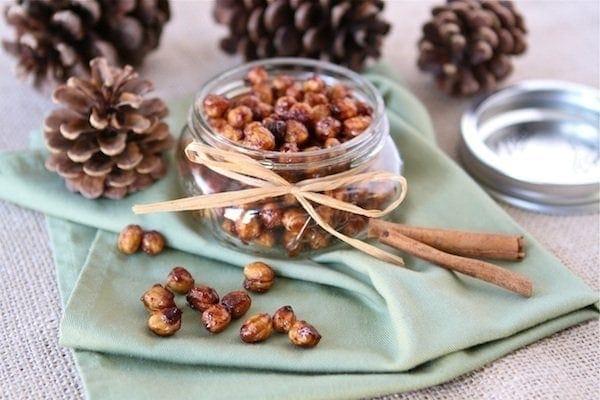 Honey Cinnamon Roasted Chickpeas | Roasted Chickpea Recipe | Two Peas ...
