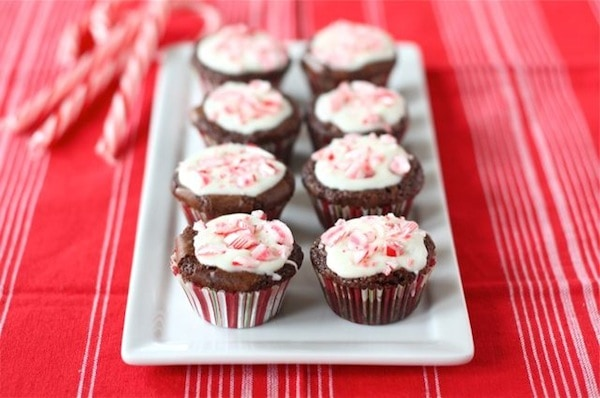 Peppermint Crunch Brownie Bites | Brownie Bites Recipe | Two Peas ...