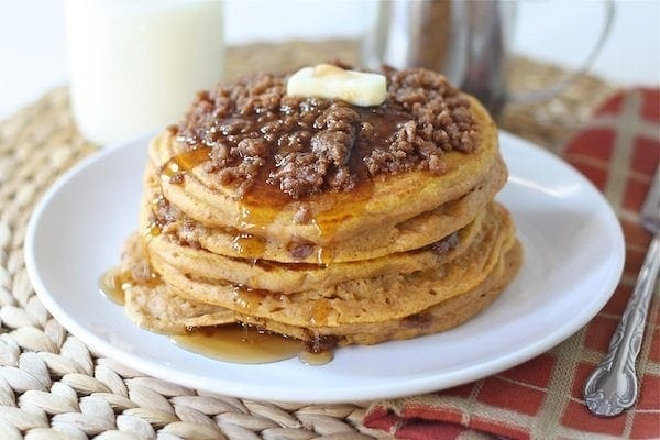 Pumpkin Cinnamon Streusel Pancakes -Josh picked our Cinnamon Streusel ...