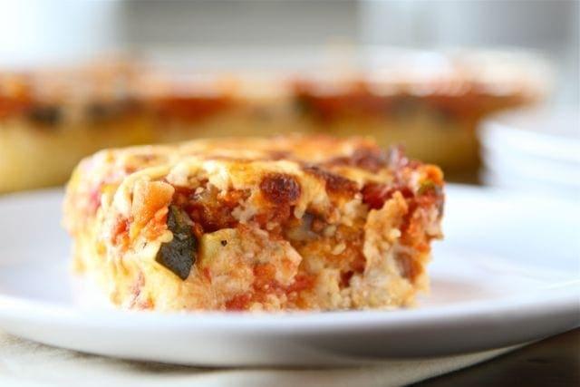 Baked Polenta Pie Recipe | Vegetarian Baked Polenta Pie | Two Peas ...