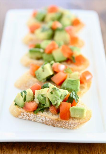 Guacamole Bruschetta Recipe | Bruschetta Recipe | Two Peas & Their Pod