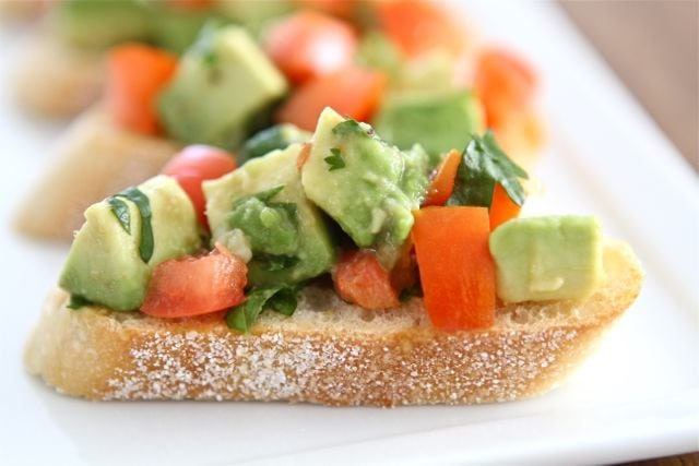 Guacamole Bruschetta from Two Peas & Their Pod