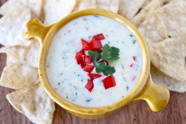 Queso Dip | Queso Blanco Dip Recipe | Two Peas & Their Pod