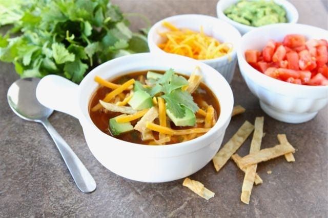 Chicken Fajita Soup Recipe | Two Peas & Their Pod