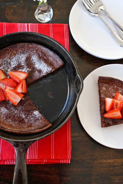 Chocolate Dutch Baby | Dutch Baby Pancake Recipe | Two Peas & Their ...