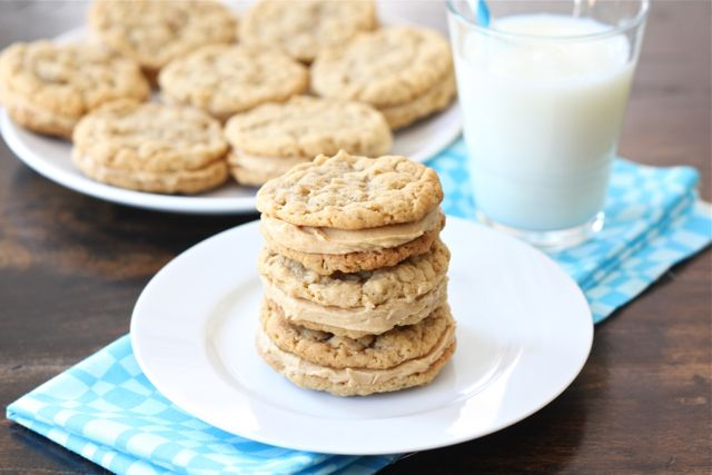 Peanut Butter Oatmeal Sandwich Cookies Recipe | Two Peas & Their Pod
