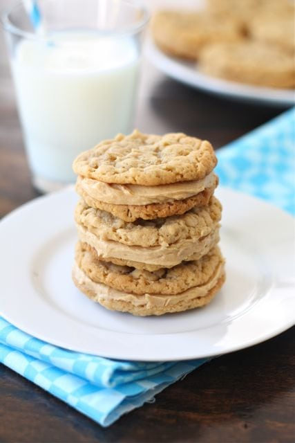 ... butter and get baking. These Peanut Butter Oatmeal Sandwich cookies do