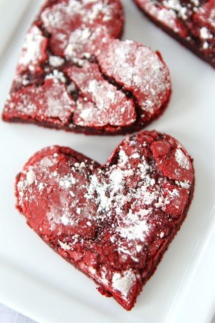 Red Velvet Crinkle Cookies via Two Peas in Their Pod