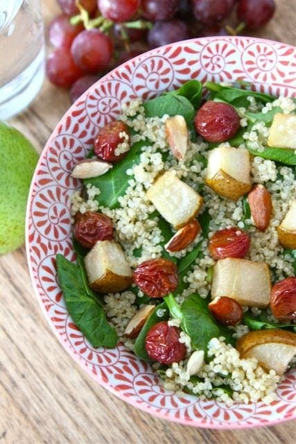 spinach salad with fruit almonds and feta cheese asian spinach salad ...