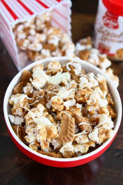 Biscoff Cookie Popcorn Recipe | Biscoff Cookies | Two Peas & Their Pod