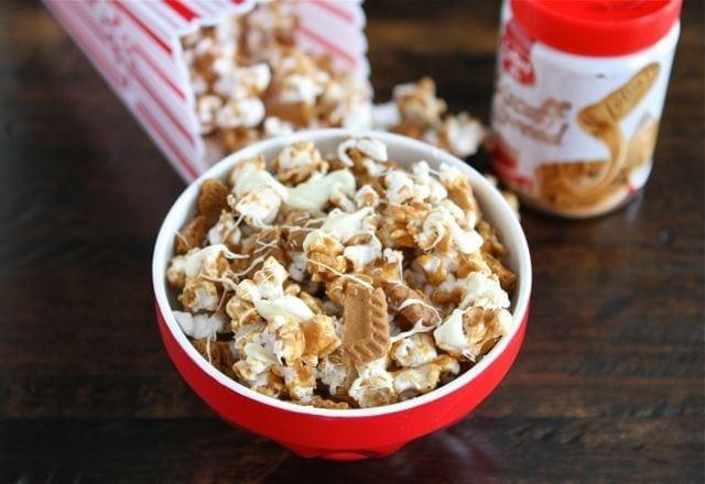 Biscoff Cookie Popcorn Recipe | Biscoff Cookies | Two Peas & Their Pod