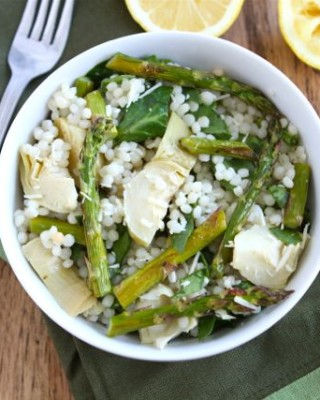 Israeili-couscous-salad-with-roasted asparagus