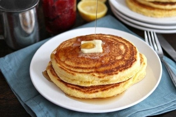 Cornmeal Ricotta Pancakes With Strawberry Rhubarb Compote Recipes ...