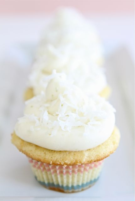 Coconut Lime Cupcakes | Coconut Cupcake Recipe | Two Peas & Their Pod