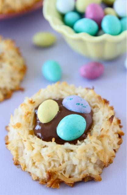 Coconut Macaroon Nutella Nests