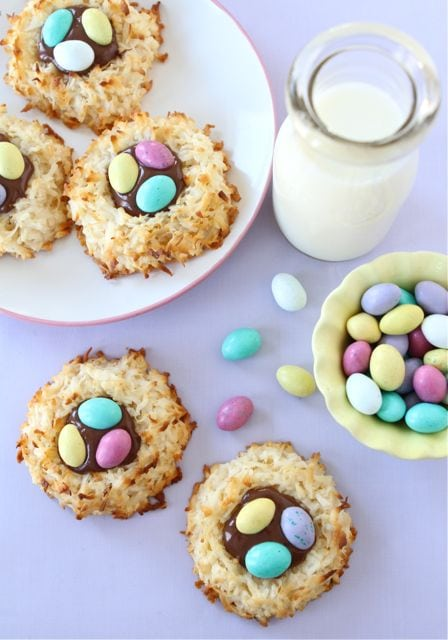 Coconut Macaroon Nutella Cookie Nests | Cookie Nest Recipe ...
