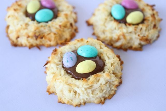 Coconut Macaroon Nutella Nests | Two Peas & Their Pod
