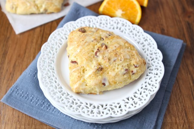 Orange Almond Scone Recipe | Almond Scone Recipe | Two Peas & Their ...
